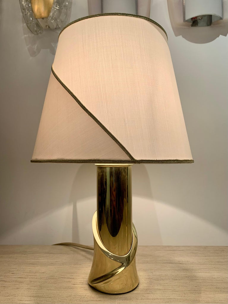 Pair of 1980s Italian Luciano Frigerio Bronze Lamps For Sale 6