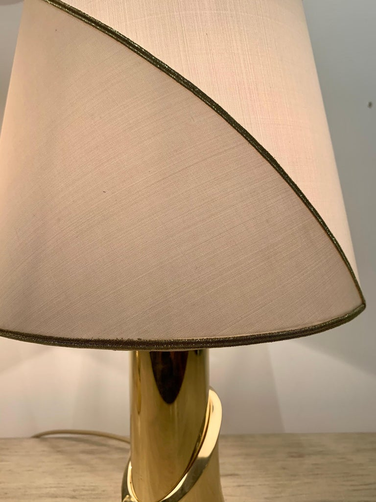 Pair of 1980s Italian Luciano Frigerio Bronze Lamps For Sale 9