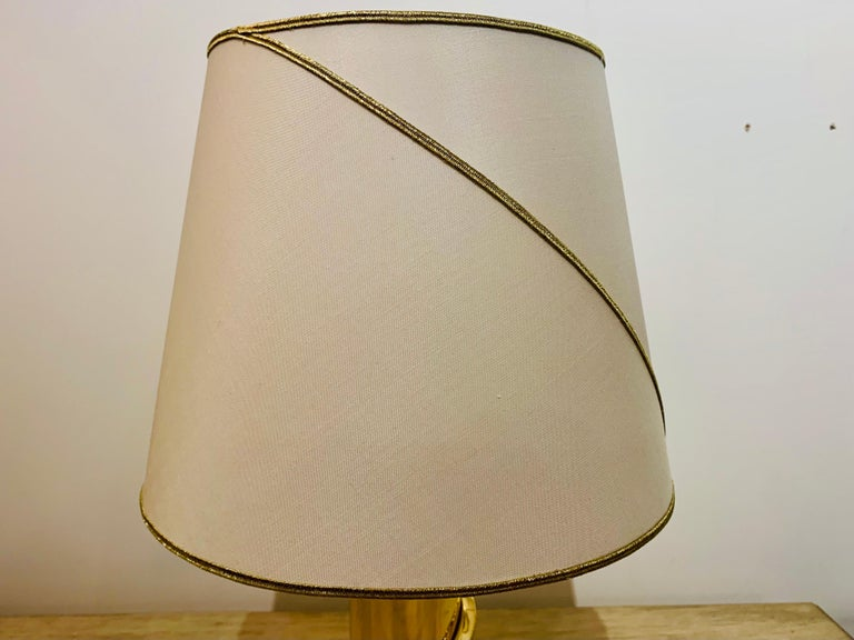Polished Pair of 1980s Italian Luciano Frigerio Bronze Lamps For Sale