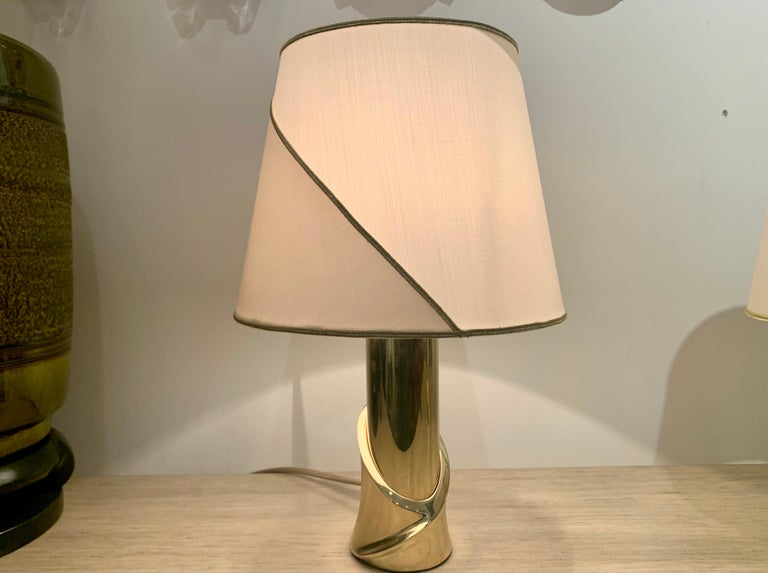 Pair of 1980s Italian Luciano Frigerio Bronze Lamps For Sale 2