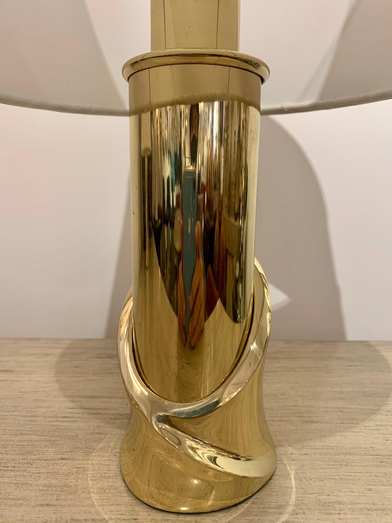 Pair of 1980s Italian Luciano Frigerio Bronze Lamps For Sale 3