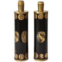 Pair of 1980s Lamps by Piero Fornasetti