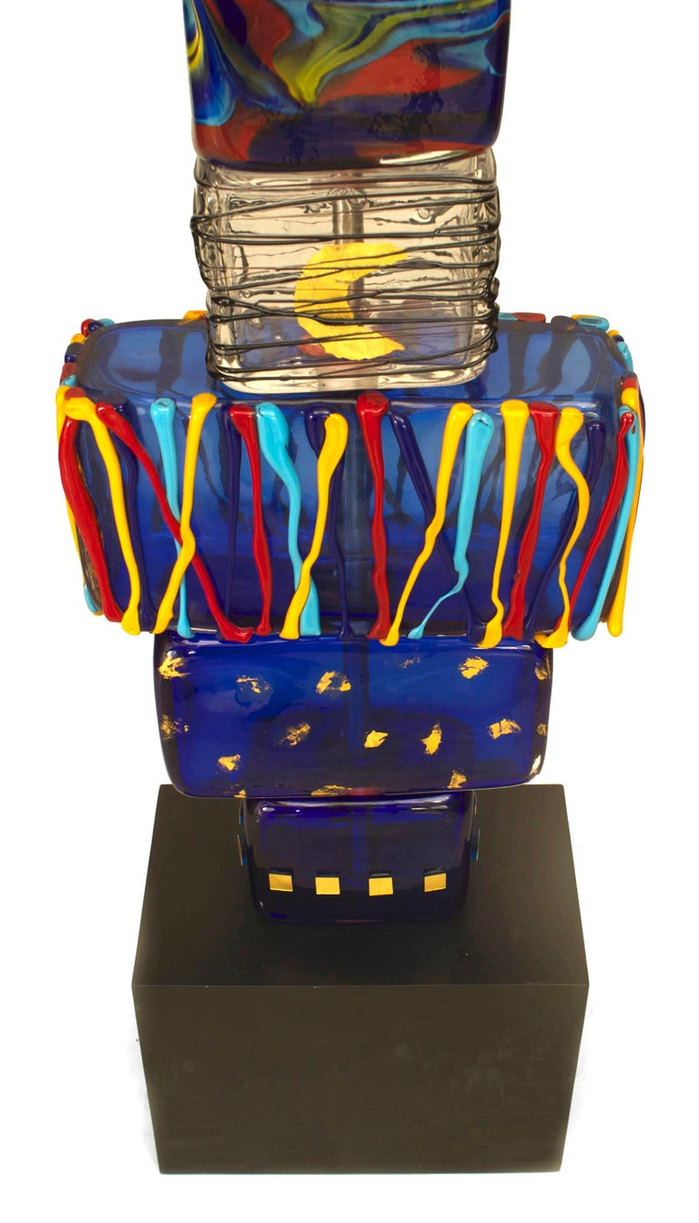 Pair of 1980s Murano Sculptures Titled,