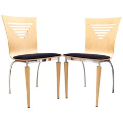 Pair of 1980s Post Modern Italian Side Chairs