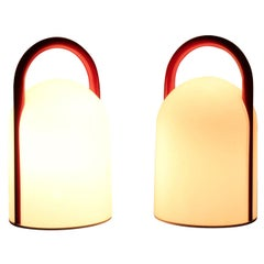 """Pair of 1980s Romolo Lanciani """"Tender"""" Table Lamps for Tronconi"""