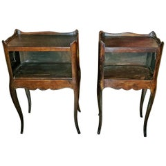 Pair of 19th Century French Country Walnut Side Tables