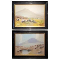 Pair of 19C J Saile Scottish Highland Watercolors