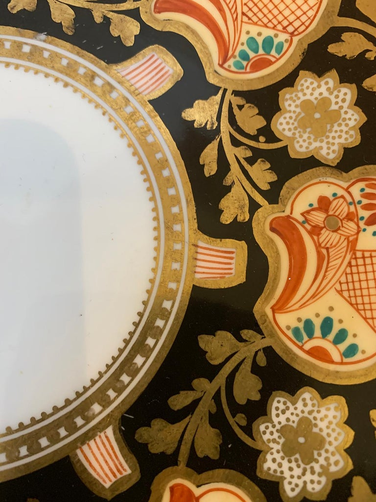 Pair of 19th-20th Century English Porcelain Dinner Plates, Unmarked For Sale 7