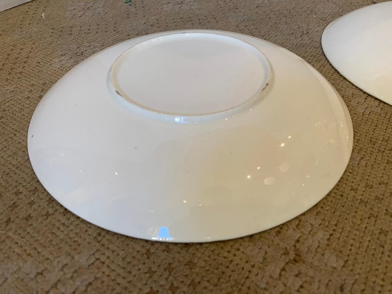 Pair of 19th-20th Century English Porcelain Dinner Plates, Unmarked For Sale 9