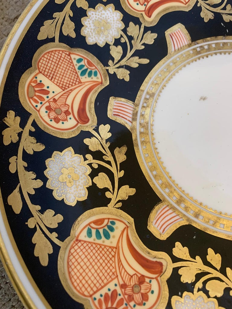 Pair of 19th-20th Century English Porcelain Dinner Plates, Unmarked For Sale 4