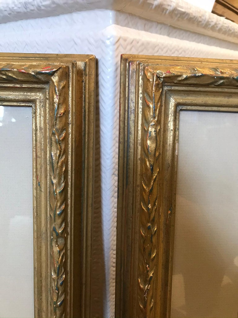 Pair of 19th-20th Century French Engravings of Normandy in Giltwood Frames For Sale 10