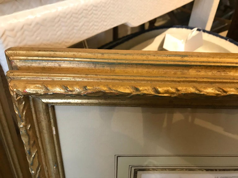 Pair of 19th-20th Century French Engravings of Normandy in Giltwood Frames For Sale 11