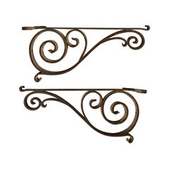 Pair of 19th-20th Century Iron Brackets
