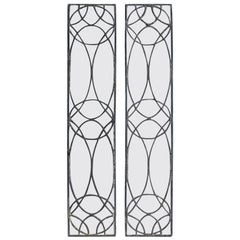 Pair of 19th-20th Century Leaded Glass Architectural Panes / Transoms