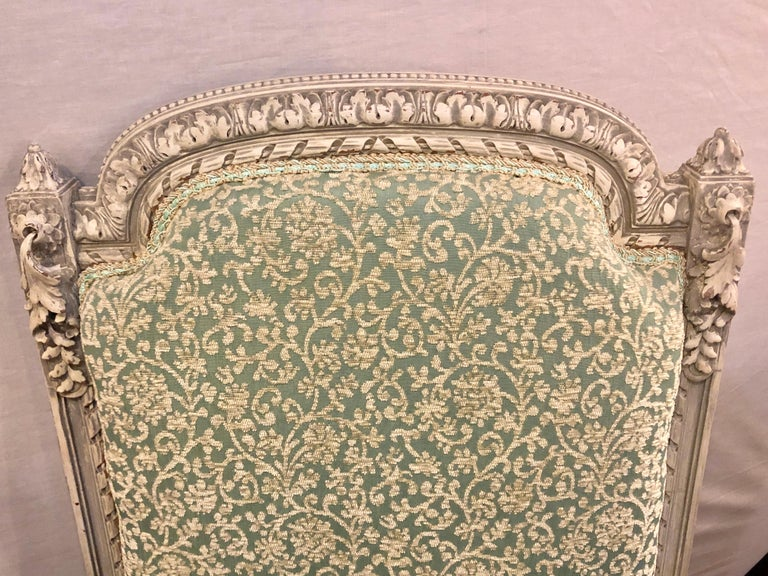 Pair of 19th-20th Century Paint Decorated Louis XVI Style Swedish Side Chairs For Sale 10