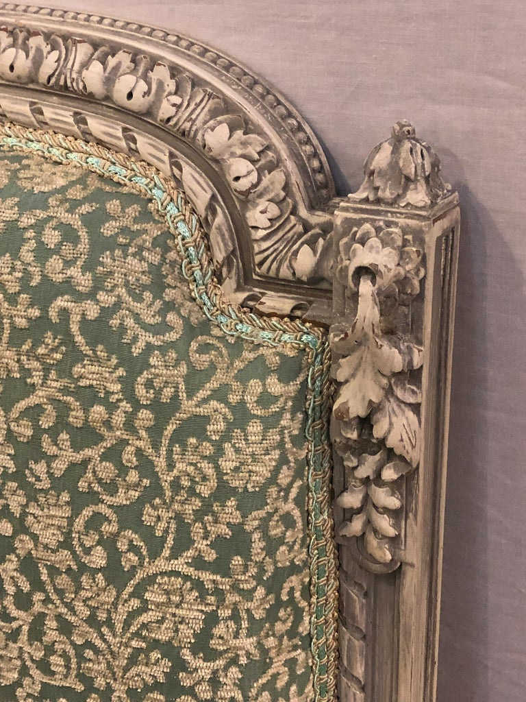 Pair of 19th-20th Century Paint Decorated Louis XVI Style Swedish Side Chairs For Sale 2
