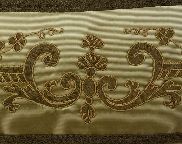 Italian Pair of 19th Century Appliqued Pillows by Melissa Levinson For Sale