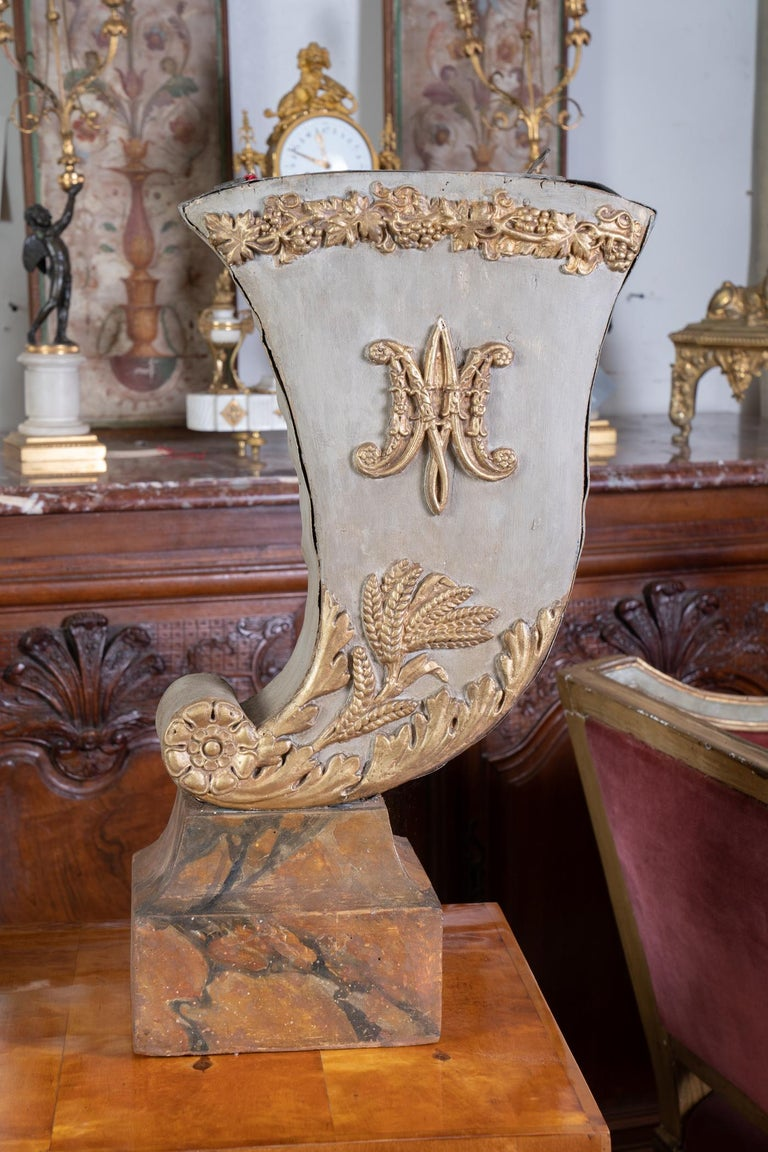French Pair of 19th Century Decorative Tole Planters For Sale