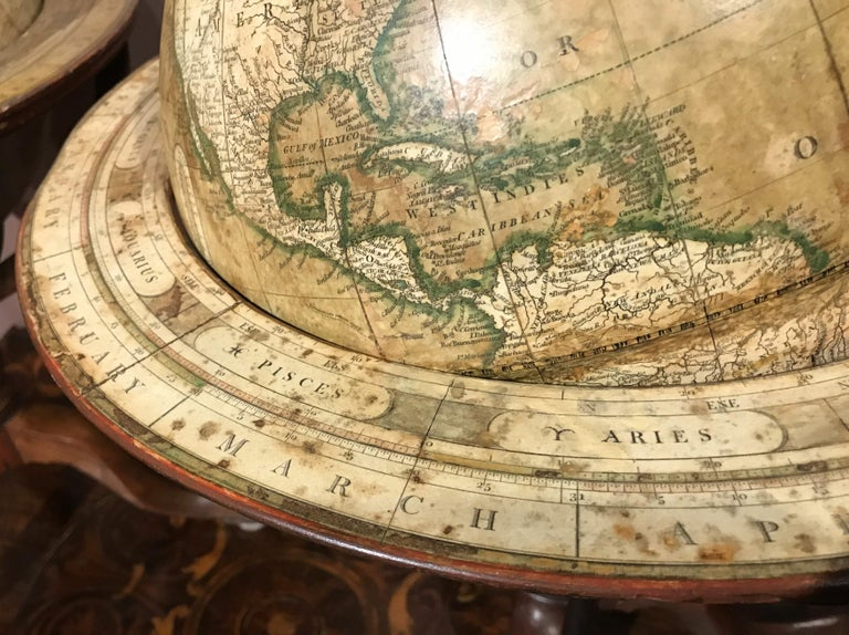 Pair of 19th Century English J & W Cary Celestial/Terrestrial Table Model Globes For Sale 5
