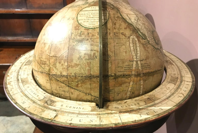 Pair of 19th Century English J & W Cary Celestial/Terrestrial Table Model Globes For Sale 6