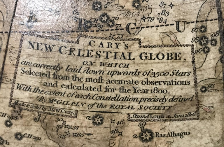 Pair of 19th Century English J & W Cary Celestial/Terrestrial Table Model Globes For Sale 2