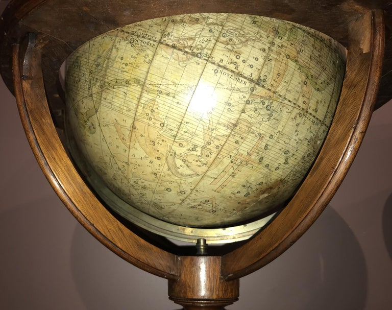 Pair of 19th Century English J & W Cary Celestial/Terrestrial Table Model Globes For Sale 3