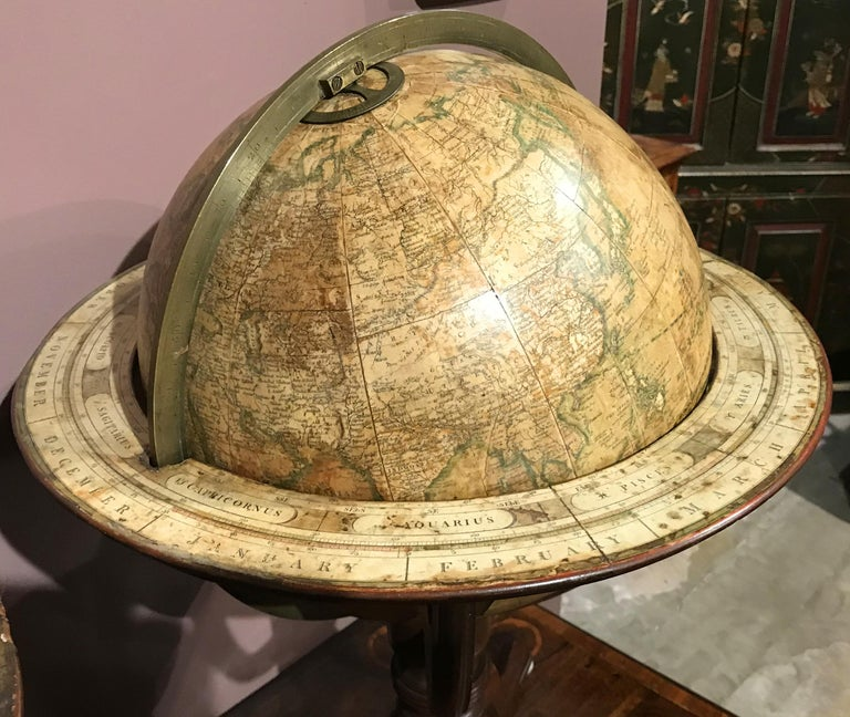 Pair of 19th Century English J & W Cary Celestial/Terrestrial Table Model Globes For Sale 4