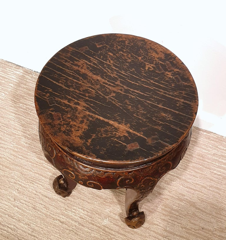 Pair of 19th Century Hardwood Chinese Stands For Sale 1