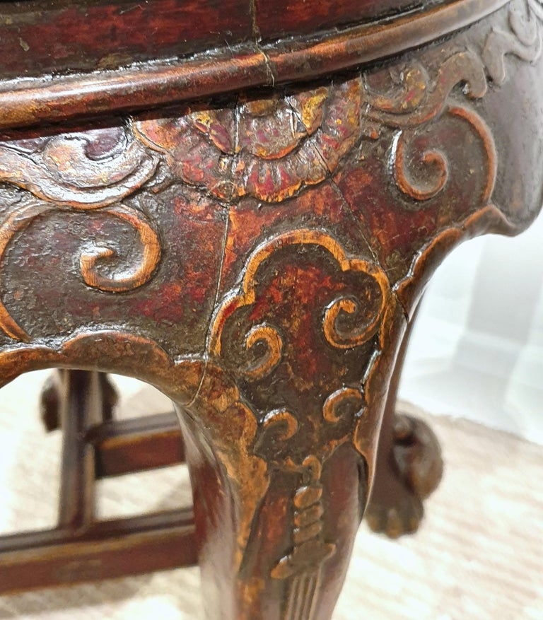 Pair of 19th Century Hardwood Chinese Stands For Sale 4