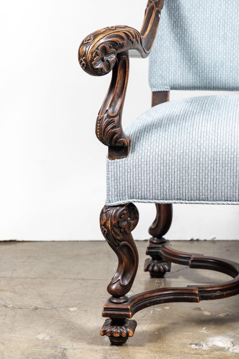 Pair of 19th Century, Italian Armchairs In Good Condition For Sale In Newport Beach, CA