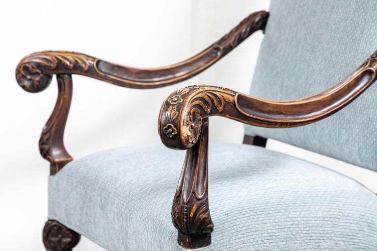 Pair of 19th Century, Italian Armchairs For Sale 2