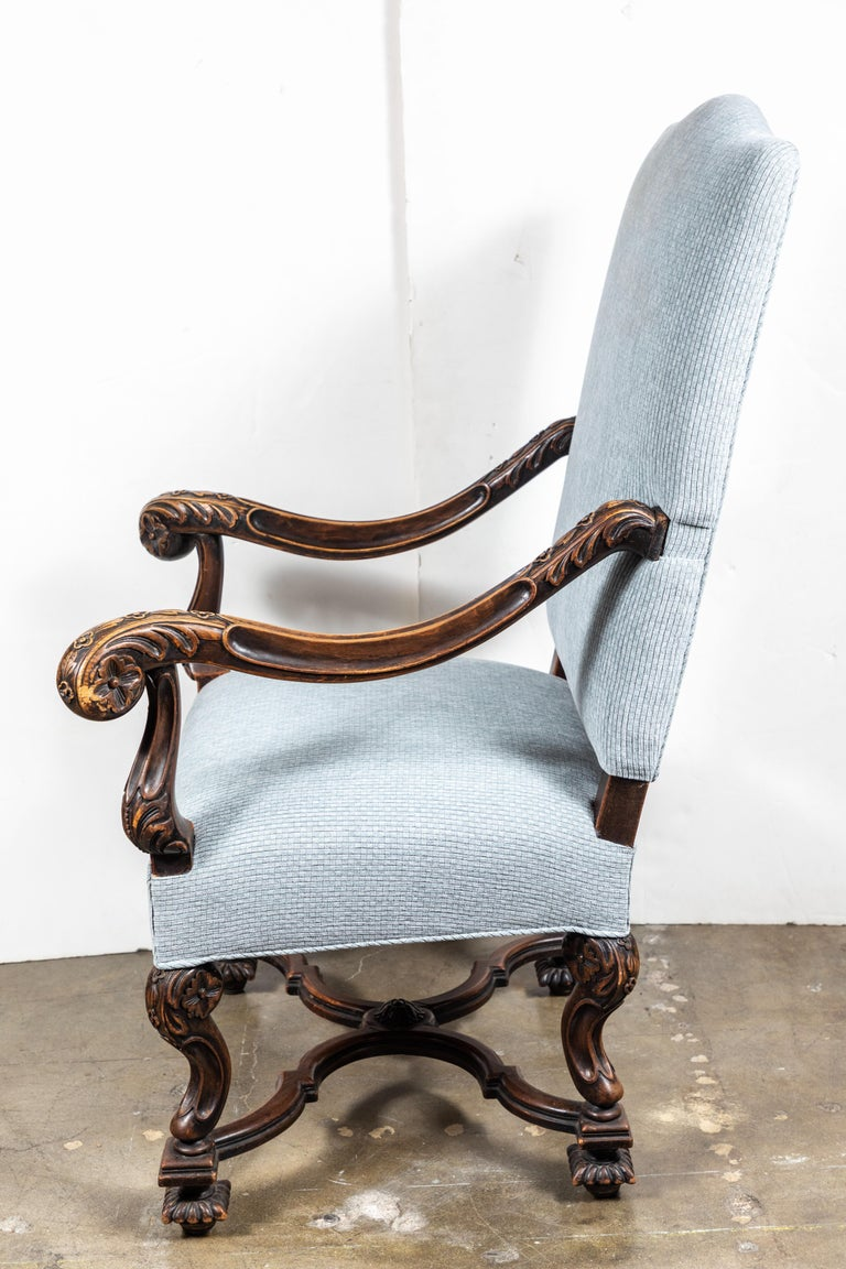 Pair of 19th Century, Italian Armchairs For Sale 3