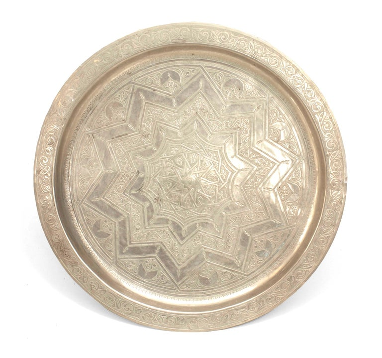 Pair of Egyptian Style Silver and Bronze Compotes In Good Condition For Sale In New York, NY