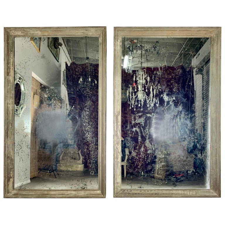 19th Century Painted Monumental Italian Mirror For Sale