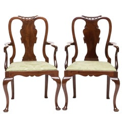 Pair of 19th Century Queen Anne Childs Chairs