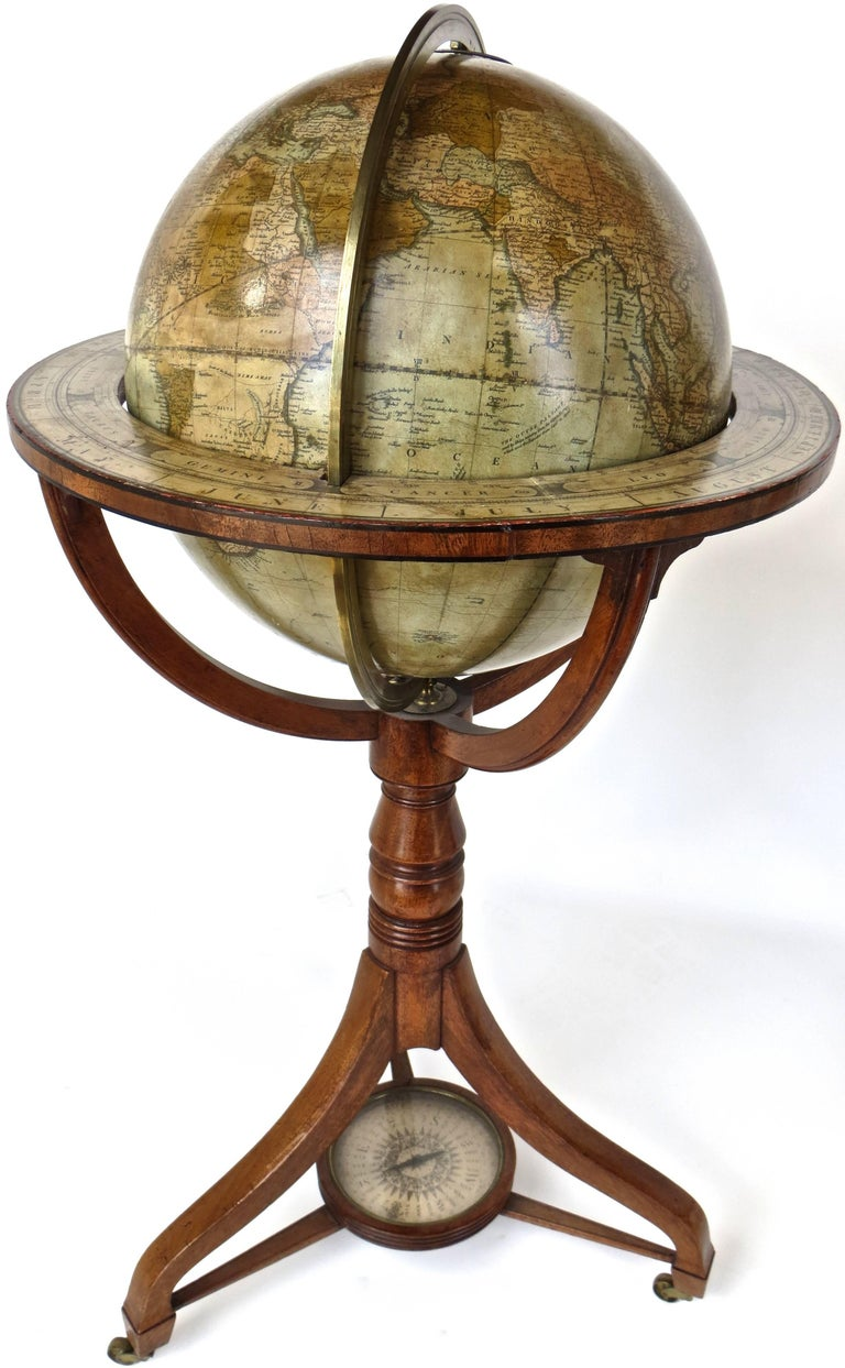 Offered are a pair of globes by the most well known and accomplished cartographers of the 19th century,