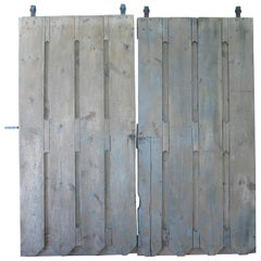 Pair of 19th Century American Gothic Barn Doors