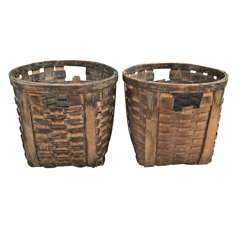Pair of 19th Century American Potato Baskets For Sale 4