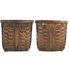 Pair of 19th Century American Potato Baskets