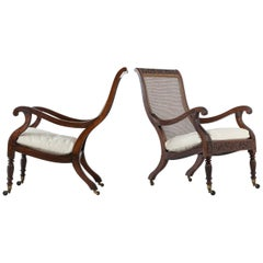Pair of 19th Century Anglo Indian Plantation Chairs
