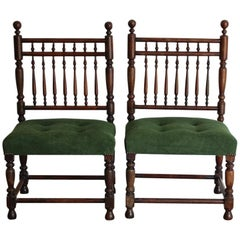 Pair of 19th Century Anglo-Portuguese Hall Chairs