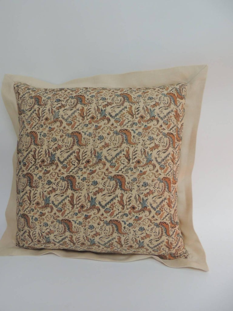 Arts and Crafts Pair of 19th Century Arts & Crafts Square Decorative Pillows For Sale