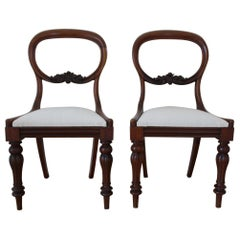Pair of 19th Century Balloon Back Mahogany Side Chairs