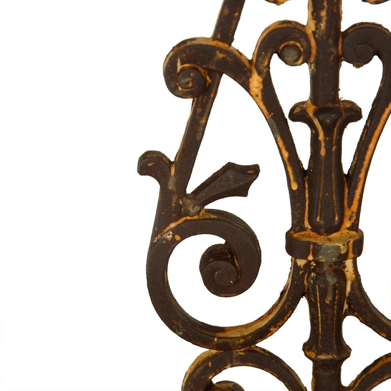 Iron Pair of 19th Century Balustrade Lamps For Sale