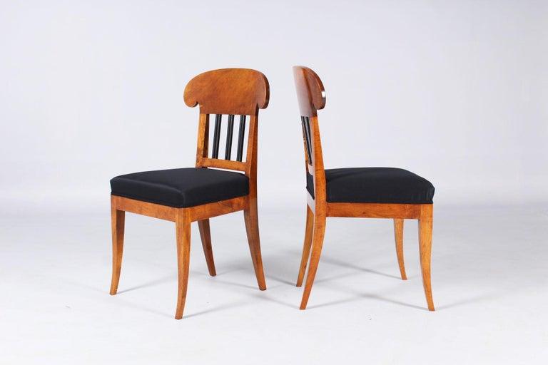 Pair of 19th Century Biedermeier Chairs, Southern Germany, Walnut, circa 1830 2