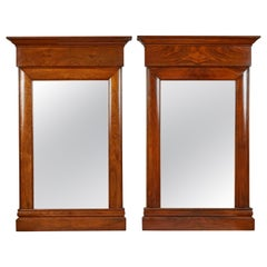 Pair of 19th Century Biedermeier Mahogany Wall Mirrors