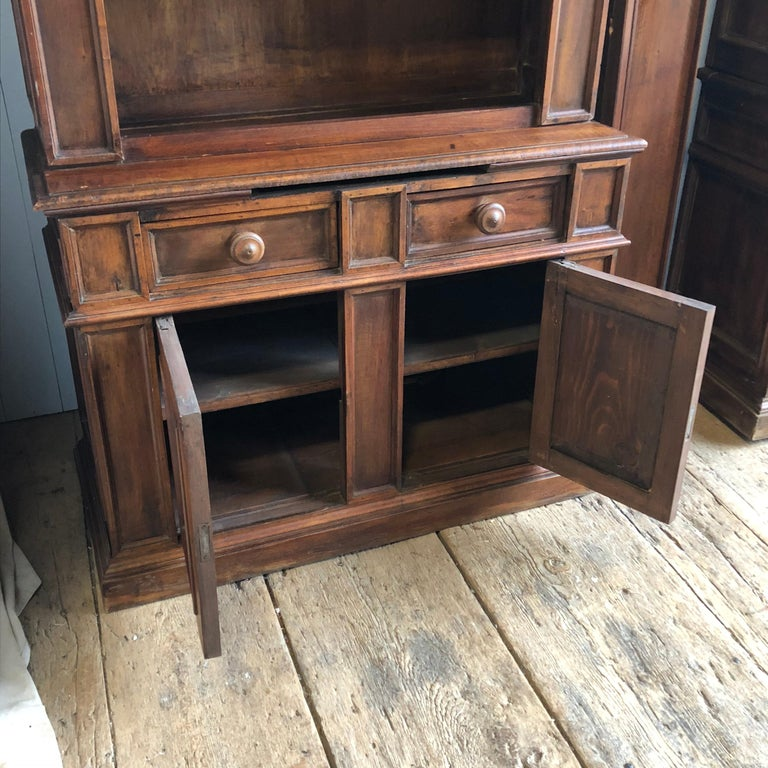 Pair of 19th Century Bookcase Cabinets with Center Shelves For Sale 4