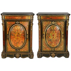 Pair of 19th Century Boulle Cabinets