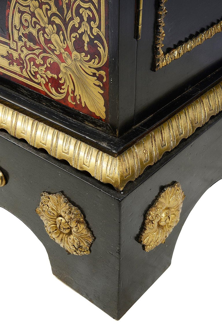 Pair of 19th Century Boulle Pier Cabinets For Sale 2