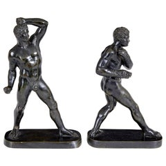 Pair of 19th Century Bronze Athlete Figures After Canova